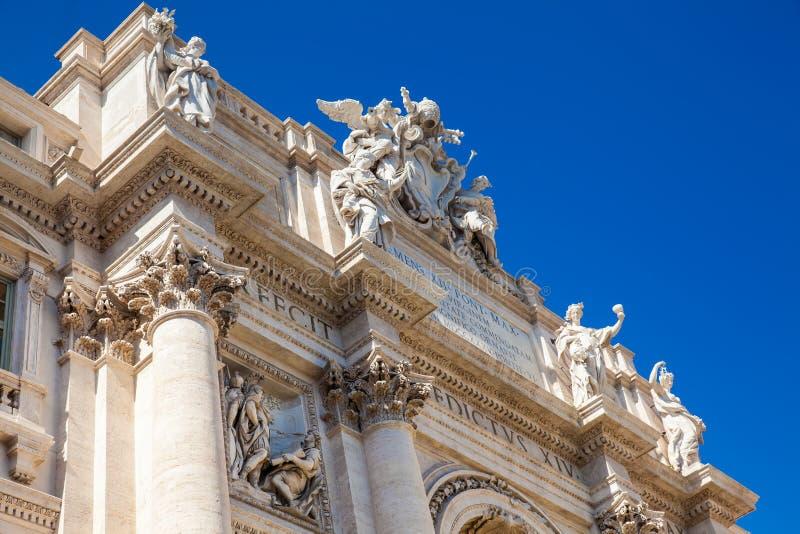 著名Trevi喷泉在1762年修造了在罗马 免版税库存图片