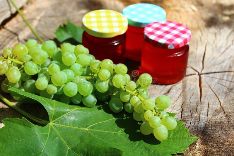 葡萄和葡萄软糖 库存图片