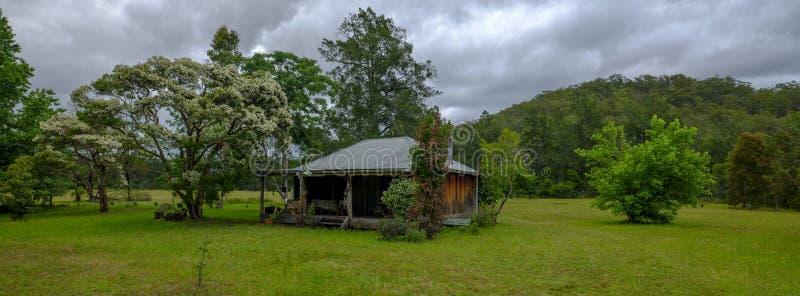 葡萄园图在洪特尔谷的登上视图地区,NSW,澳大利亚 库存照片