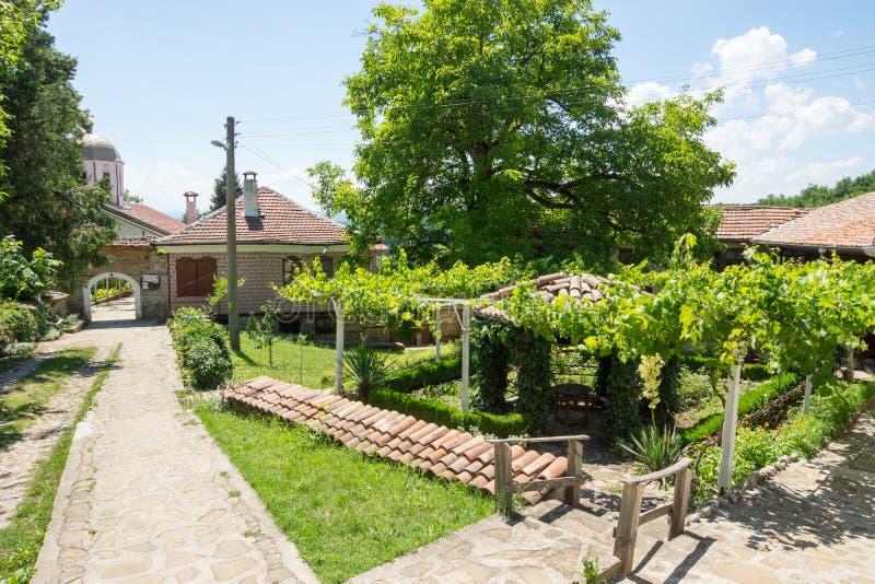 葡萄园在圣尼古拉斯修道院里  库存照片