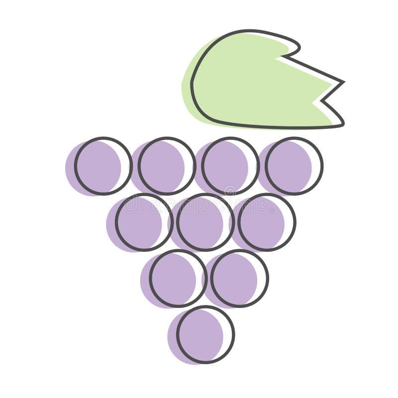 葡萄或葡萄被隔绝的葡萄酒象或者商标 皇族释放例证