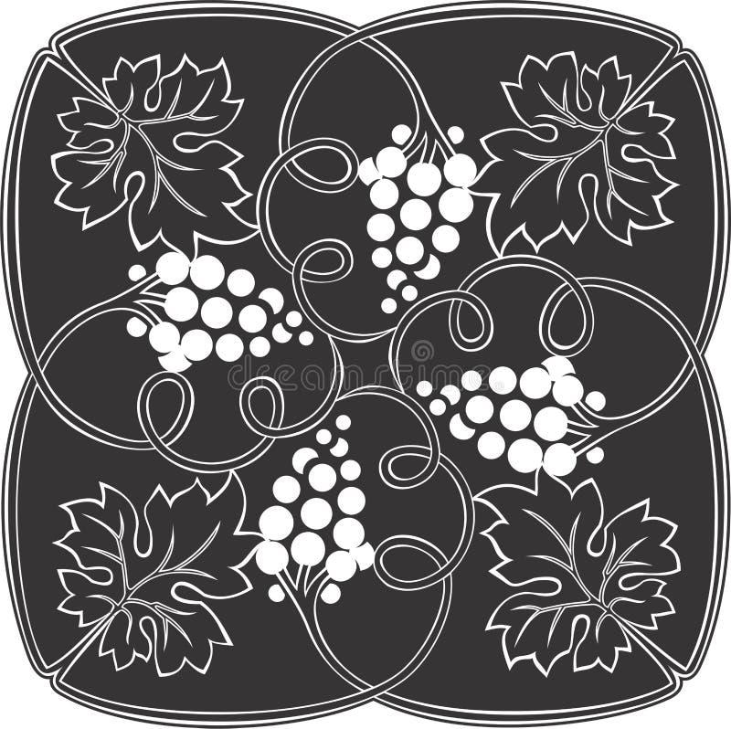 葡萄方形的艺术2 免版税图库摄影