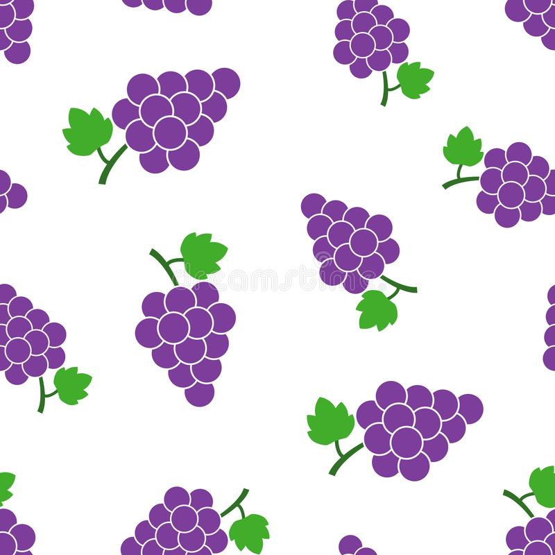 葡萄果子有叶子无缝的样式背景 浓缩的事务 皇族释放例证