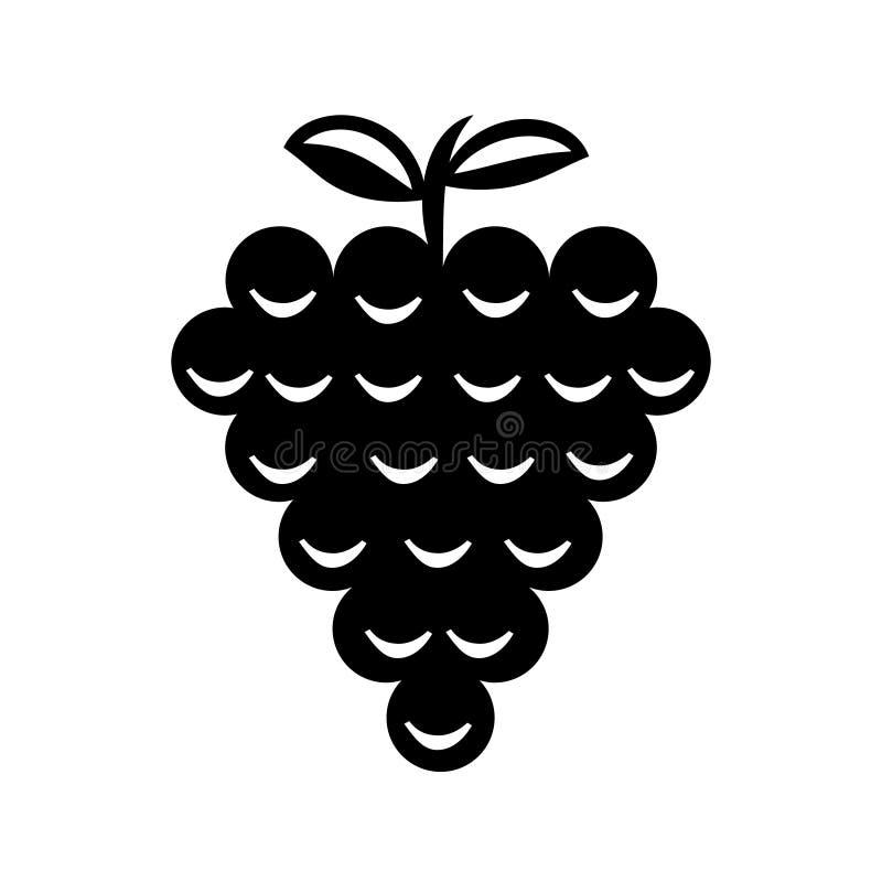 葡萄果子签署象传染媒介 葡萄树例证标志 库存例证