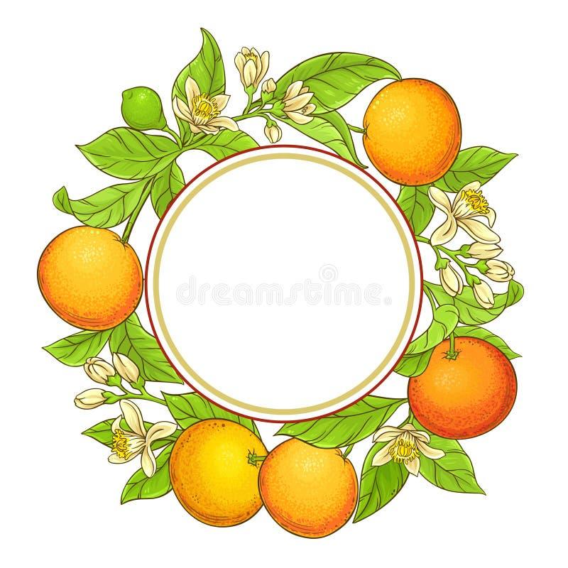 葡萄柚传染媒介框架 库存例证