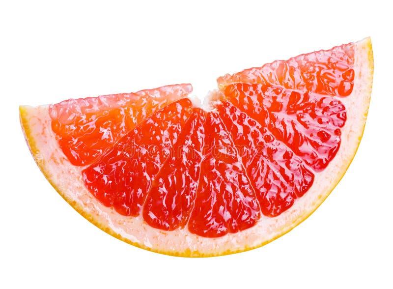 葡萄柚切片。使用裁减路线 免版税库存照片