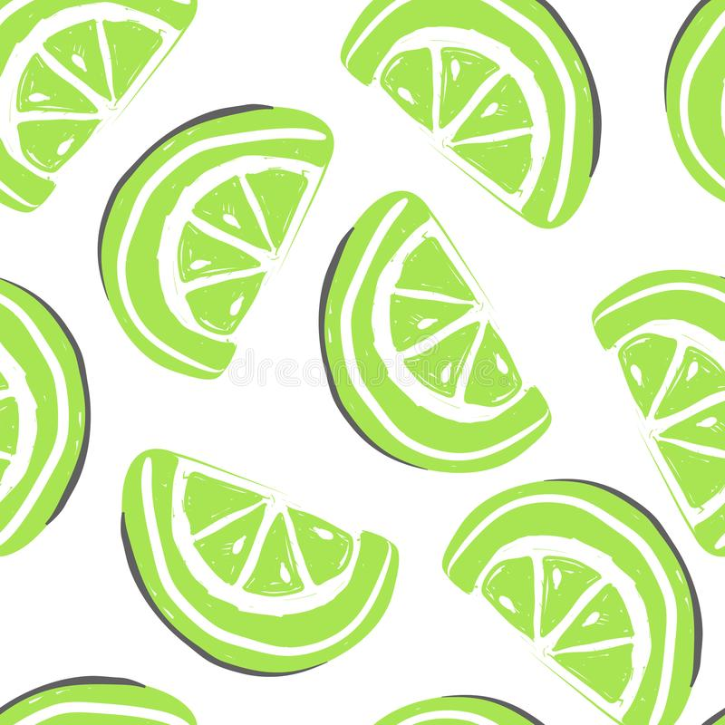 葡萄柚和异乎寻常的果子无缝的样式 新鲜的绿色葡萄柚热带水果夏天戒毒所 皇族释放例证
