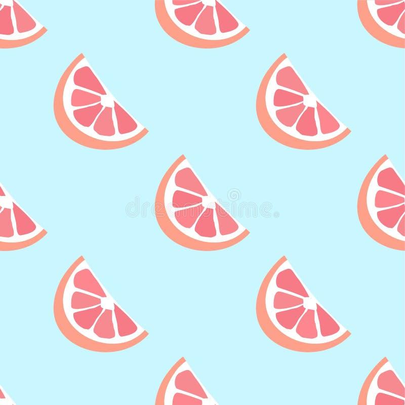 葡萄柚无缝的传染媒介样式 无缝 库存例证
