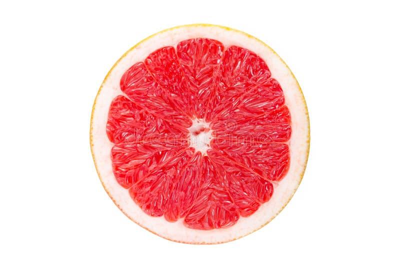 葡萄柚查出的片式白色 免版税库存照片