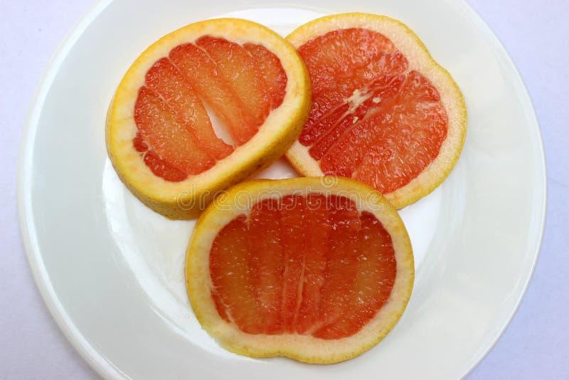 葡萄柚片式三 免版税库存图片