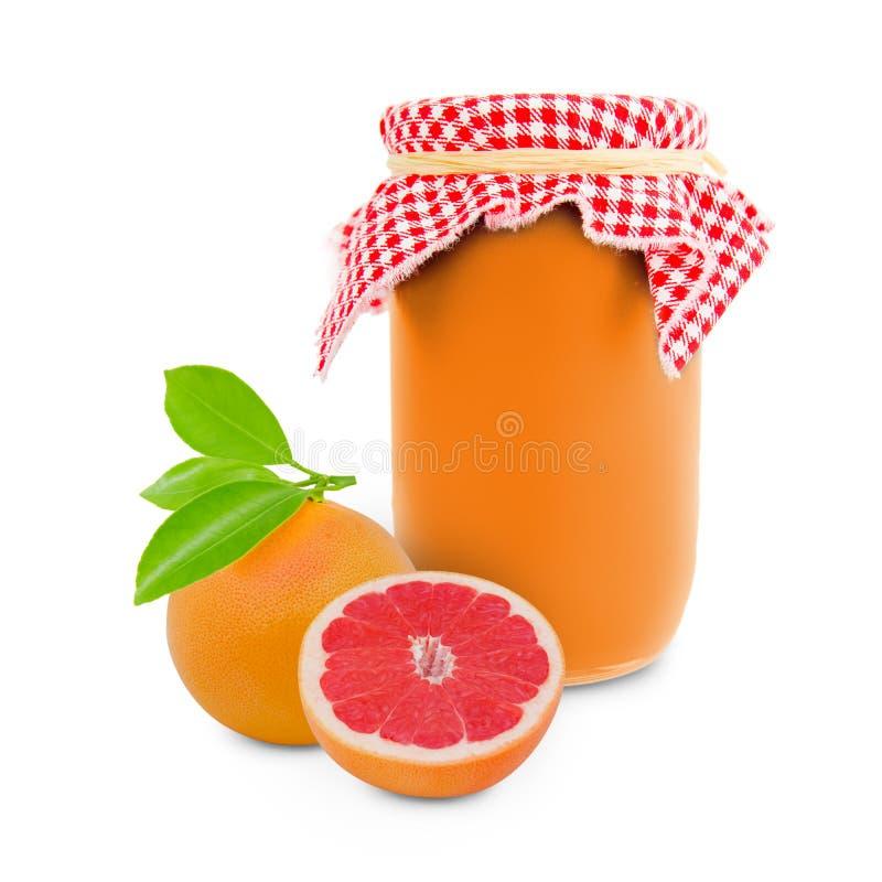 葡萄柚瓶子 图库摄影