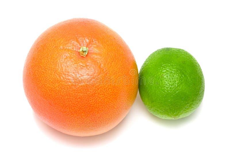 葡萄柚石灰 免版税库存照片