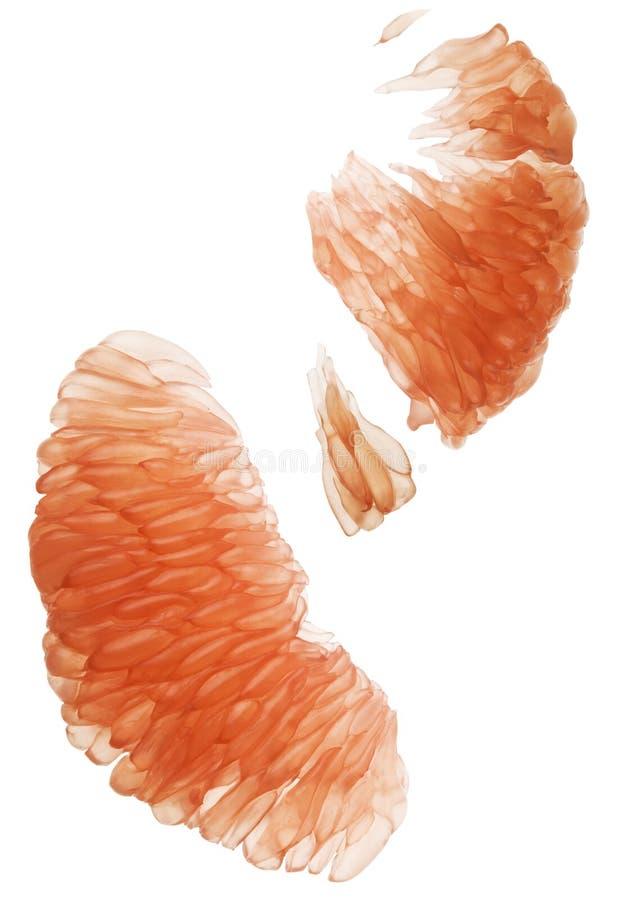 葡萄柚肉特写镜头没有皮肤 免版税库存照片