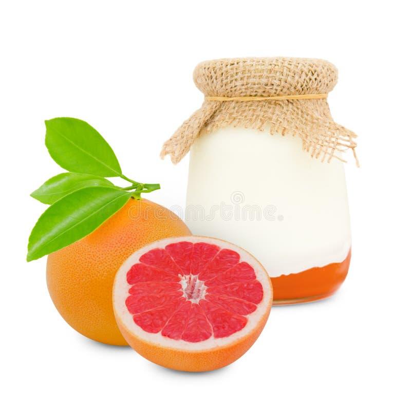 葡萄柚酸奶 库存照片