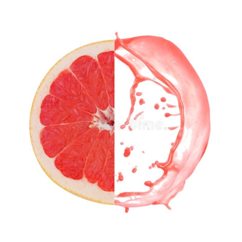 葡萄柚飞溅 免版税库存照片