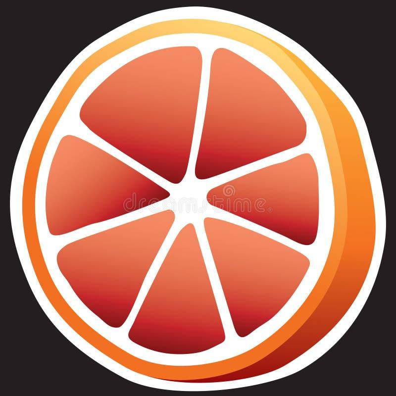 葡萄柚 皇族释放例证
