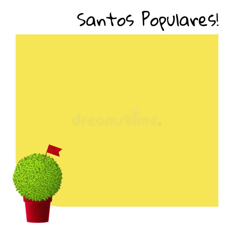 葡萄牙与manjerico植物的节日黄牌 皇族释放例证