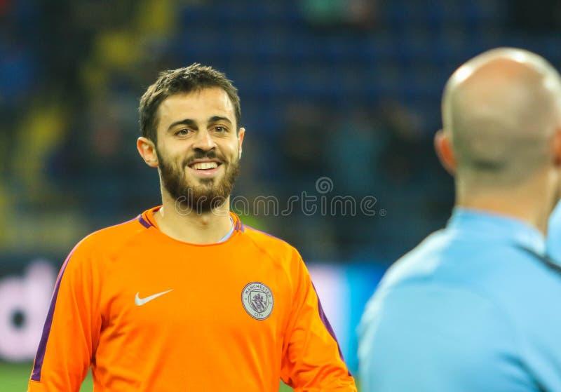 葡萄牙专业足球运动员伯纳多森林区 免版税库存照片
