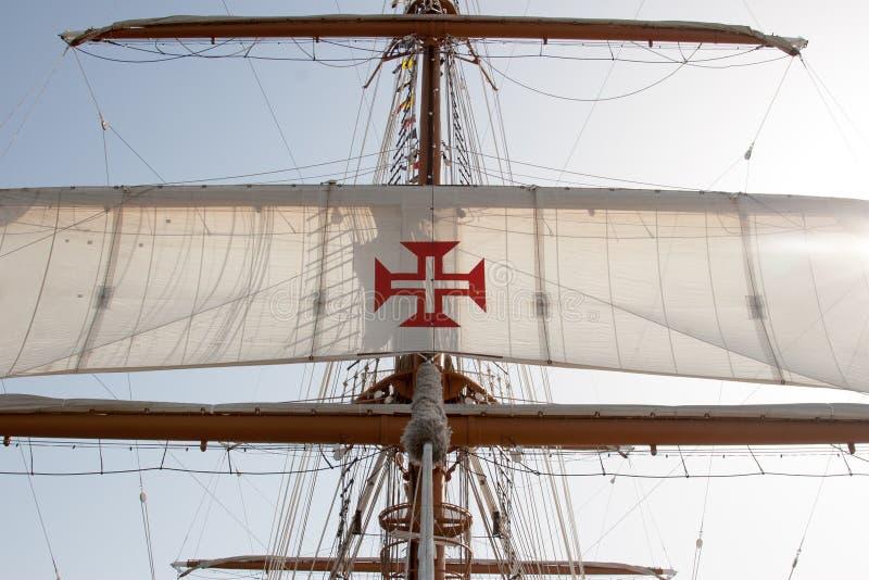 葡萄牙军舰, 免版税库存照片
