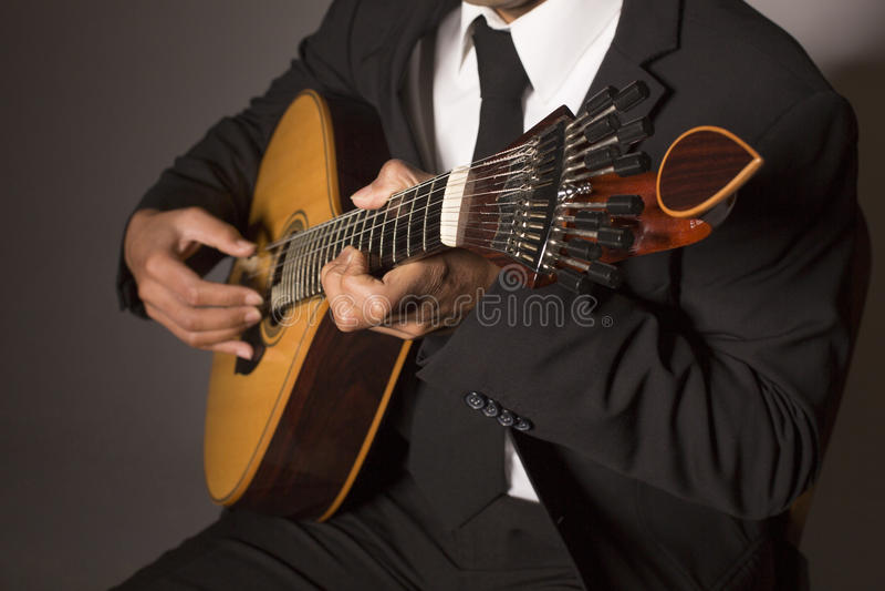 葡萄牙吉他 库存图片