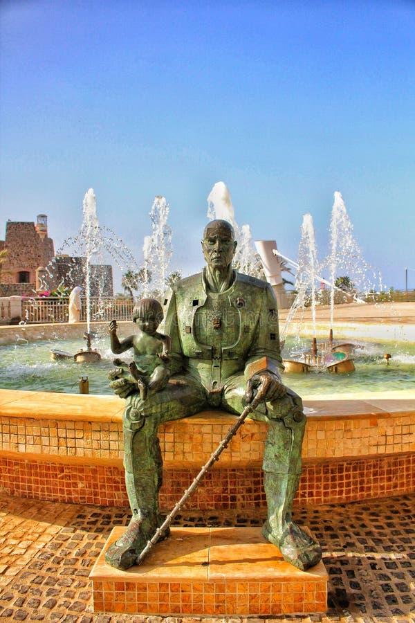 葡萄牙唐佩德罗de梅尼士Portocarrero的一个壮观的雕塑 免版税图库摄影