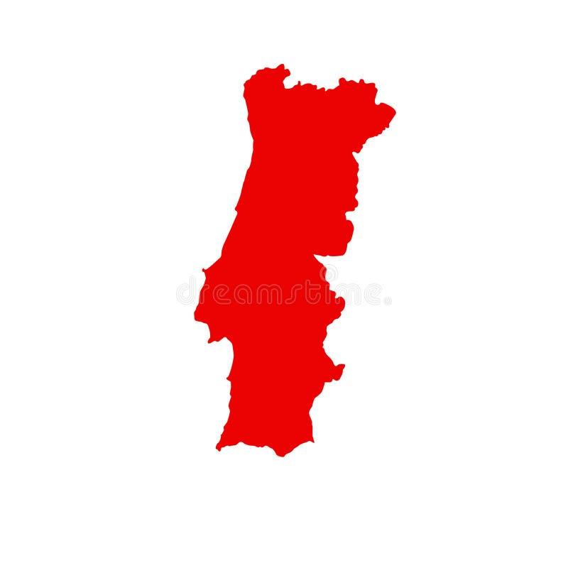 葡萄牙地图-伊比利亚半岛的国家在西南欧洲 向量例证