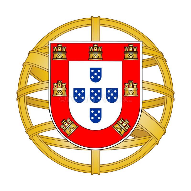 葡萄牙徽章 皇族释放例证