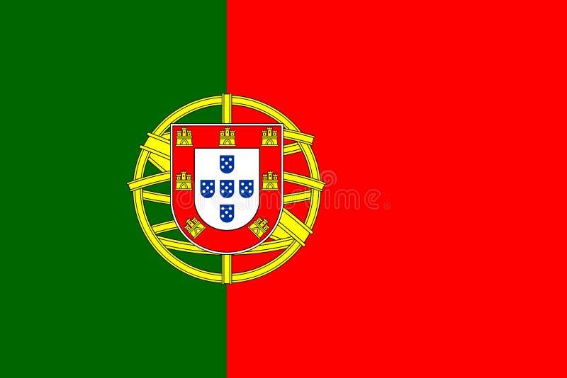 葡萄牙旗子传染媒介 向量例证