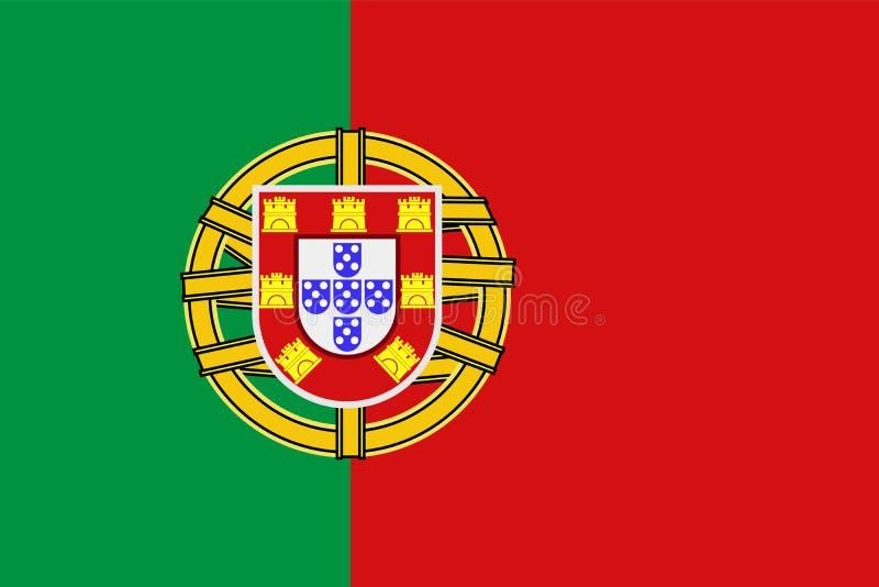 葡萄牙旗子的国家标志 库存例证