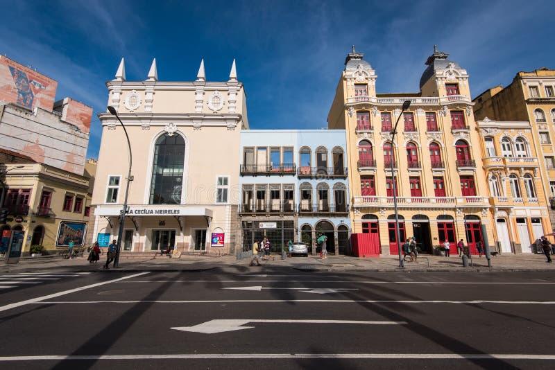 葡萄牙样式大厦在里约热内卢 免版税库存图片