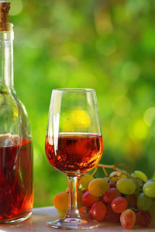葡萄牙玫瑰酒红色 库存图片