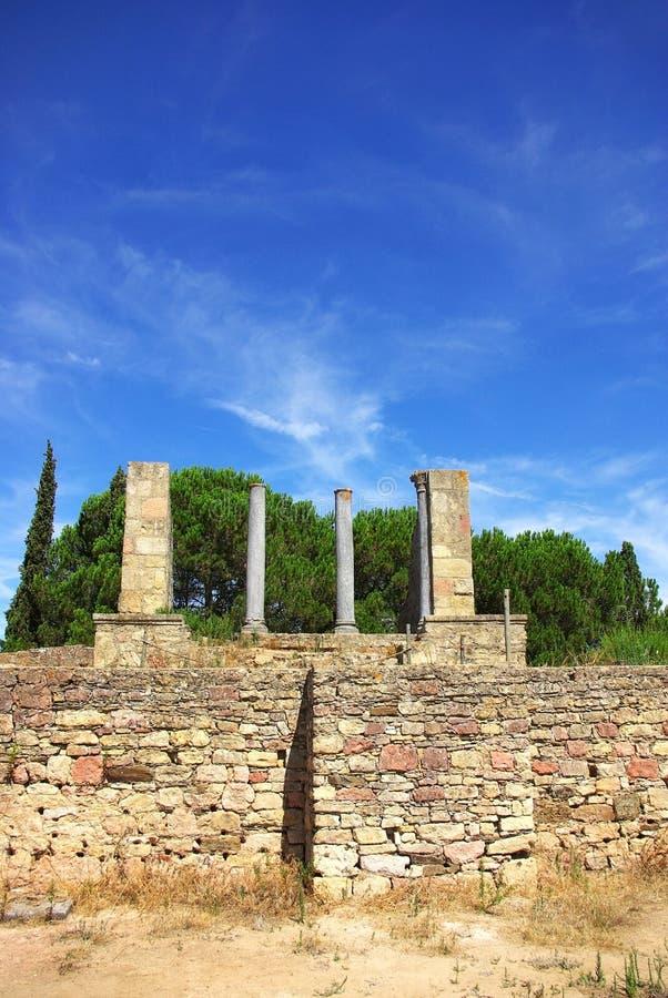 葡萄牙罗马寺庙 免版税图库摄影