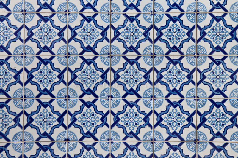 葡萄牙语铺磁砖Azulejo 图库摄影