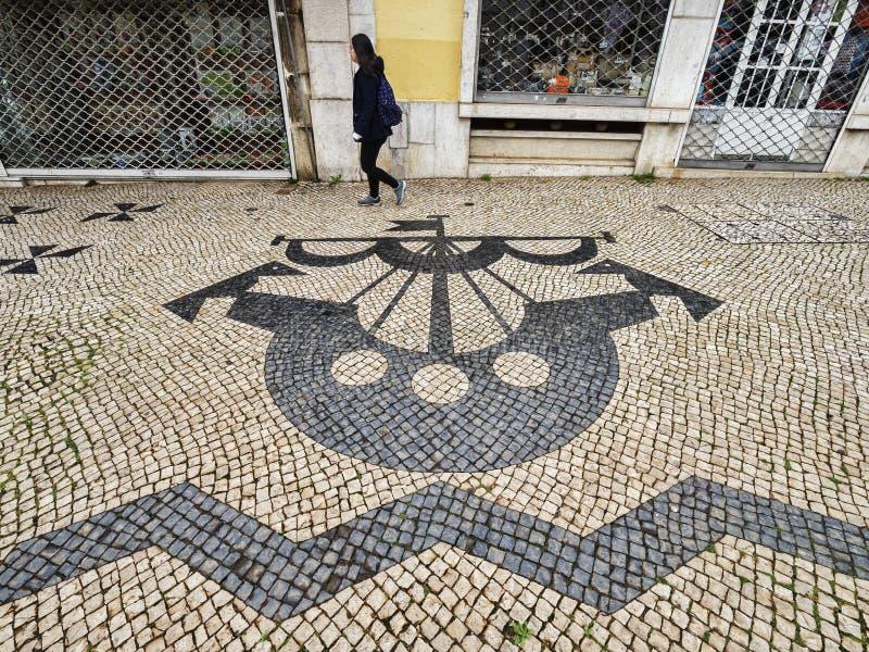 葡萄牙路面里斯本葡萄牙 免版税库存图片