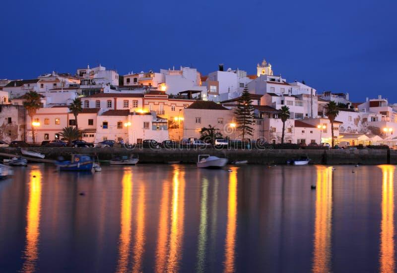 葡萄牙,阿尔加威地区, Ferragudo 图库摄影