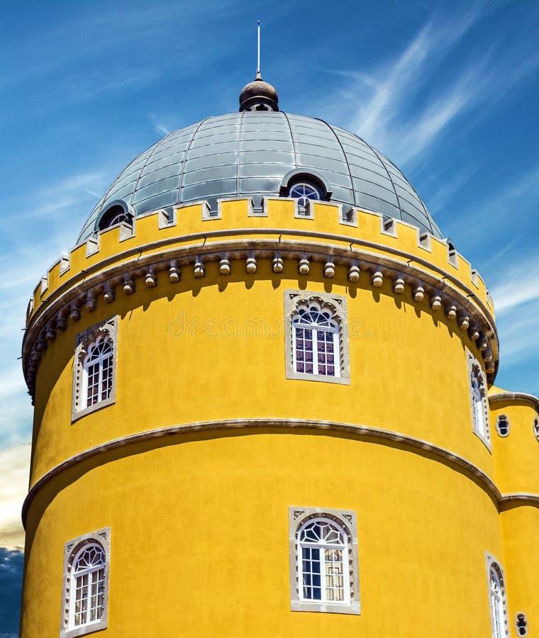 葡萄牙贝纳国民宫殿 帕拉西奥Nacional da贝纳,辛特拉 免版税库存照片