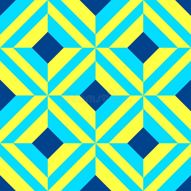 葡萄牙azulejo瓦片 仿造无缝 库存例证