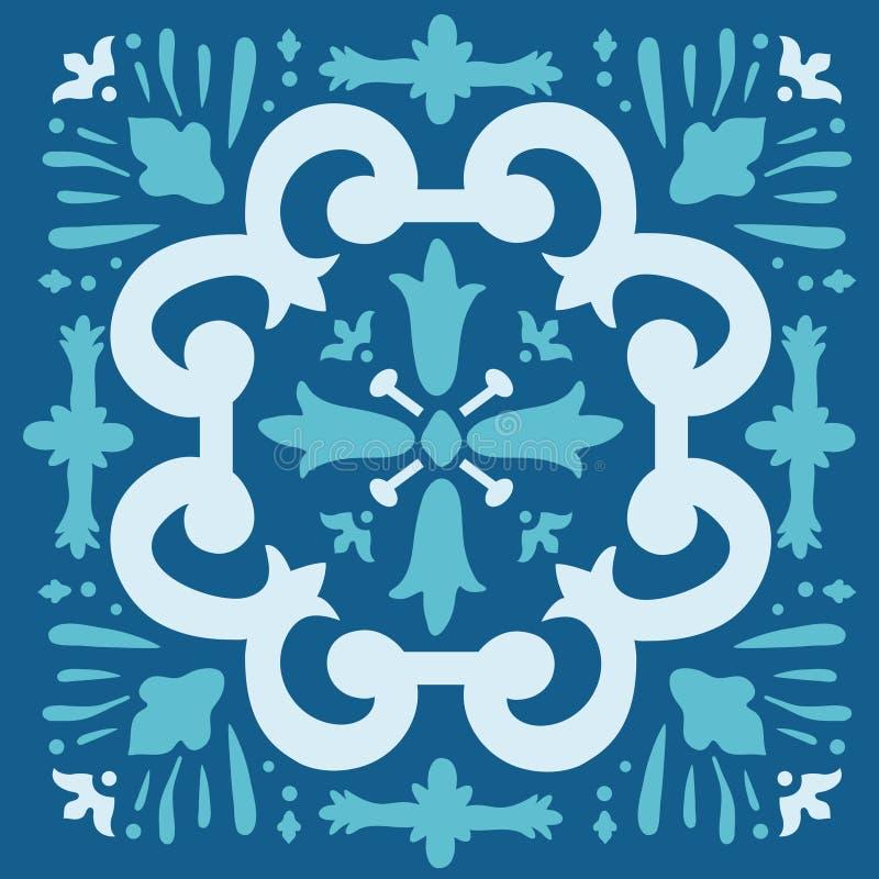 葡萄牙azulejo瓦片 向量例证