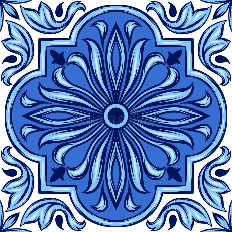 葡萄牙azulejo陶瓷砖 皇族释放例证