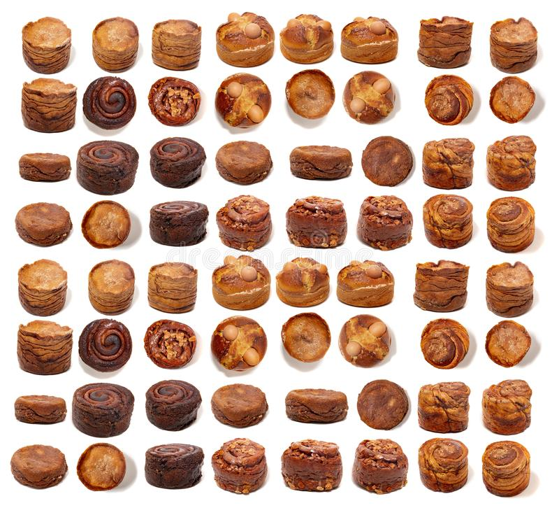 葡萄牙folar蛋糕的混合 免版税图库摄影
