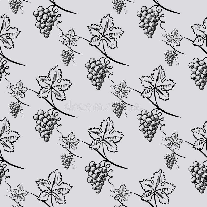 葡萄的无缝的样式 免版税库存照片