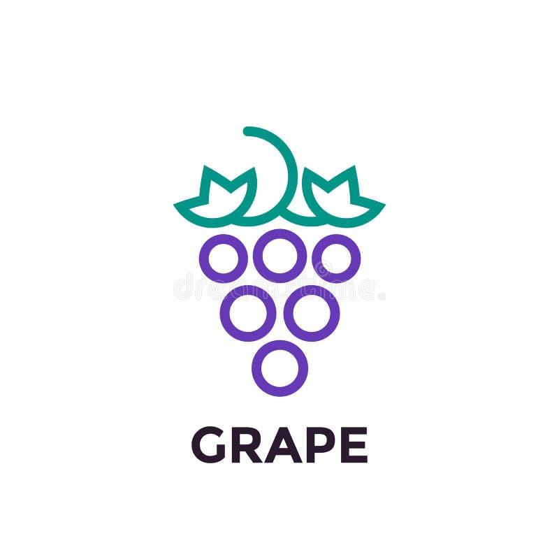 葡萄线性商标元素 皇族释放例证