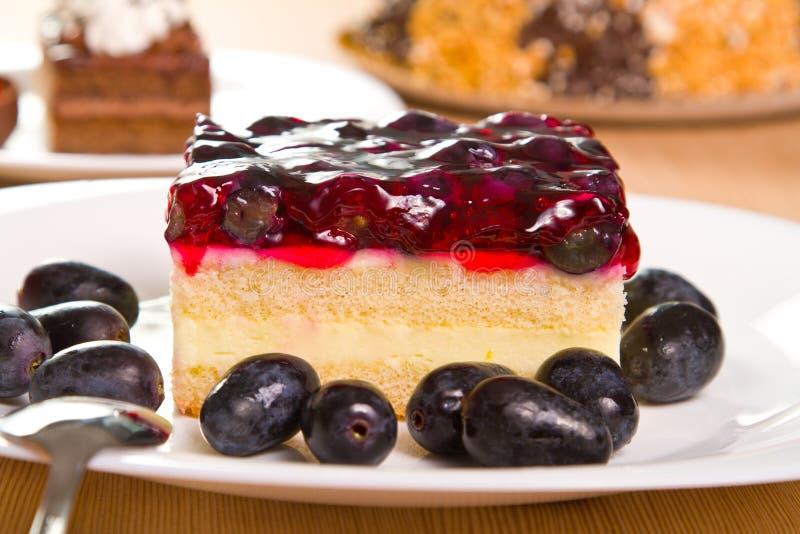 葡萄蛋糕 库存照片