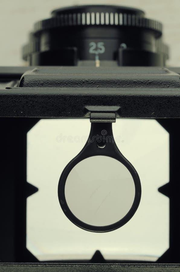 葡萄酒俄国照相机反光镜 免版税图库摄影