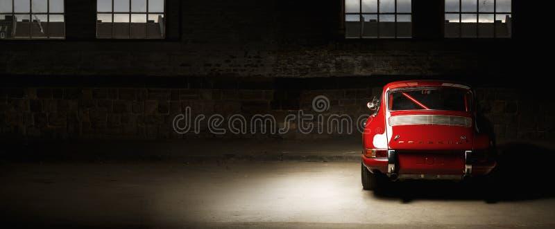 葡萄酒保时捷911汽车 库存照片