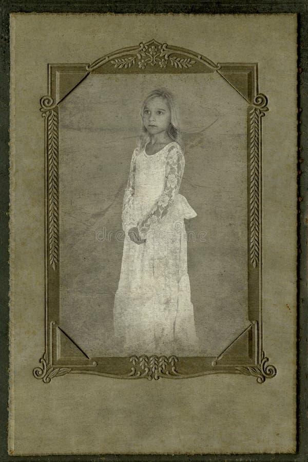 葡萄酒儿童画象,古色古香的摄影 库存照片