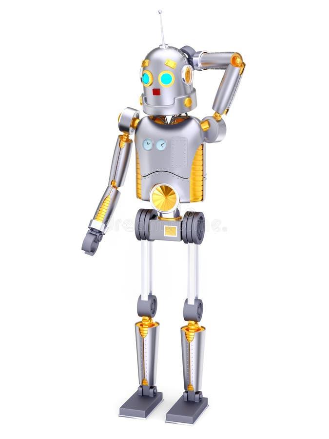 葡萄酒减速火箭的机器人缺点 皇族释放例证