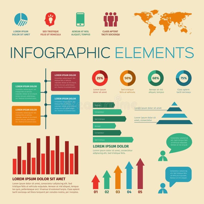 葡萄酒减速火箭的infographics元素 皇族释放例证