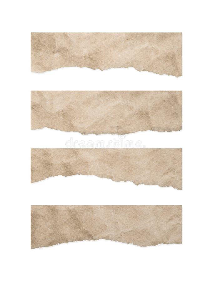 葡萄酒剥去了在白色背景的纸纹理 库存照片