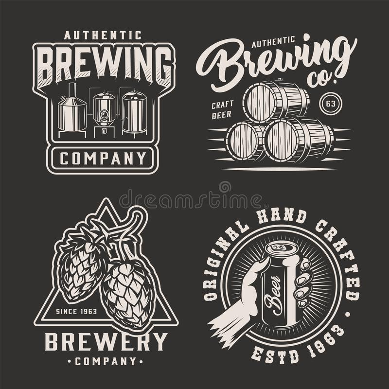 葡萄酒单色啤酒厂象征 库存例证